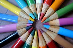 Sharpened Color Pencils